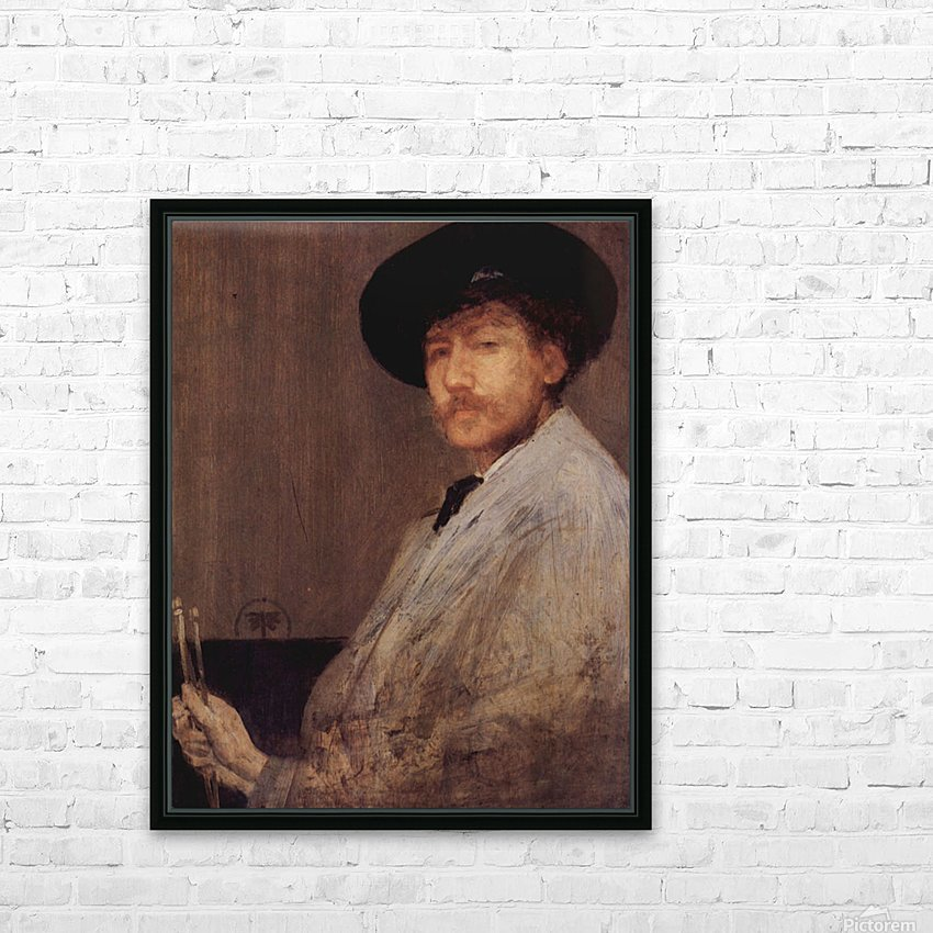 Self Portrait -1- by James Abbot McNeill Whistler HD Sublimation Metal print with Decorating Float Frame (BOX)