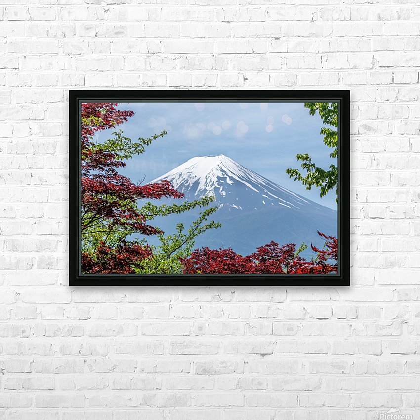 mountain mount landscape japanese HD Sublimation Metal print with Decorating Float Frame (BOX)