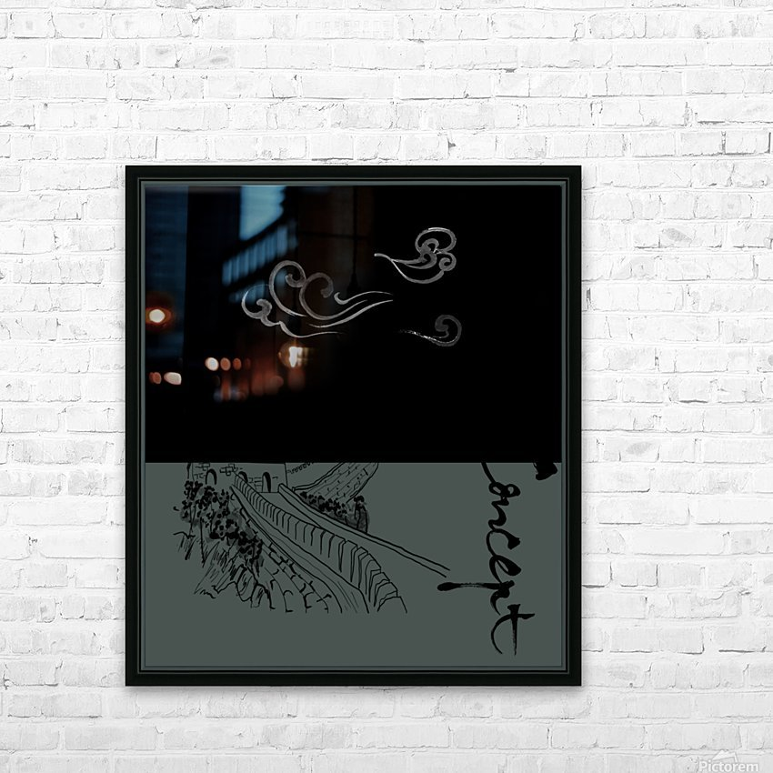 Chinese Concept 15A HD Sublimation Metal print with Decorating Float Frame (BOX)