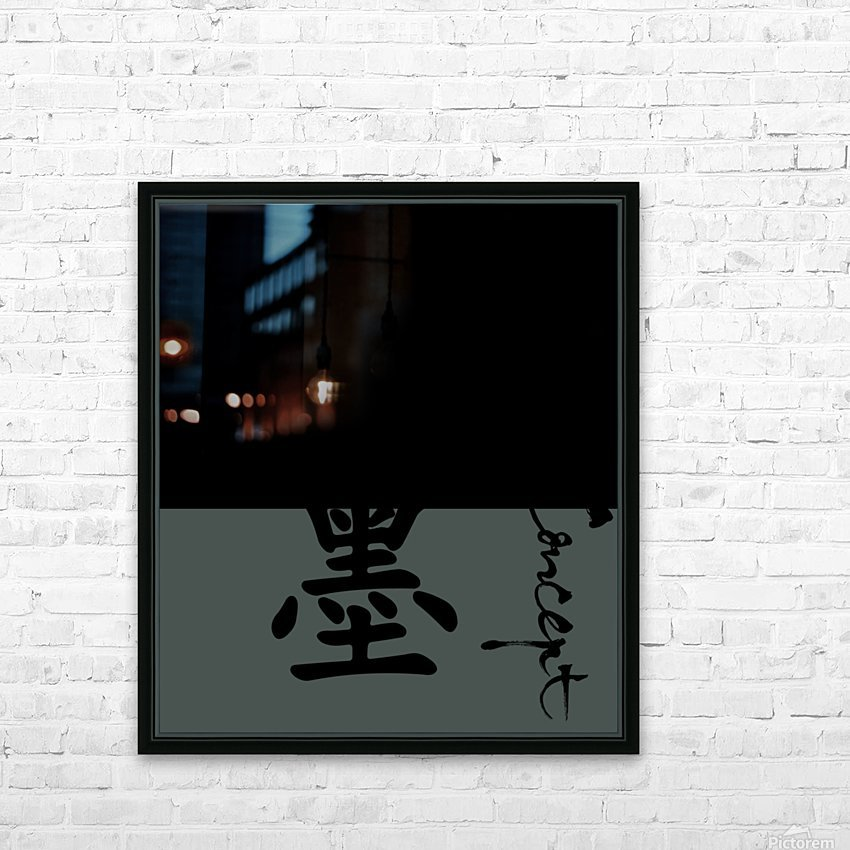Chinese Concept 18A HD Sublimation Metal print with Decorating Float Frame (BOX)