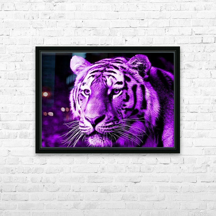 Tiger pop purple HD Sublimation Metal print with Decorating Float Frame (BOX)