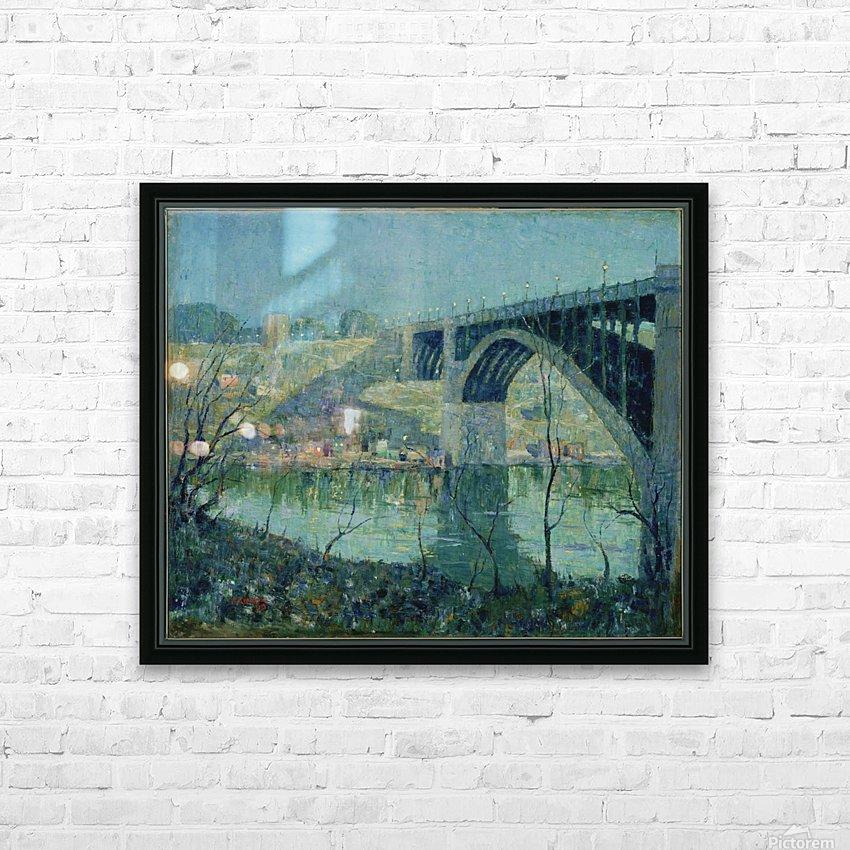 Spring Night Harlem River HD Sublimation Metal print with Decorating Float Frame (BOX)