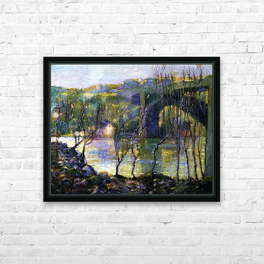 Bridge Harlem HD Sublimation Metal print with Decorating Float Frame (BOX)