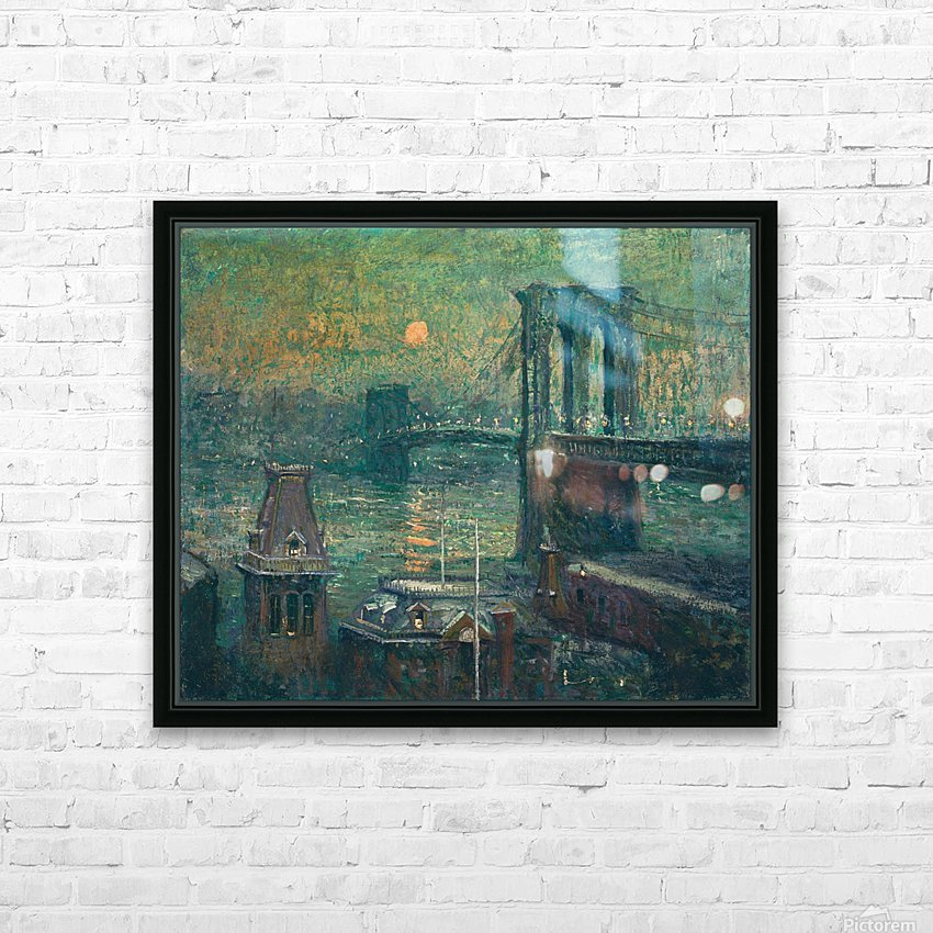 Moon the seine HD Sublimation Metal print with Decorating Float Frame (BOX)