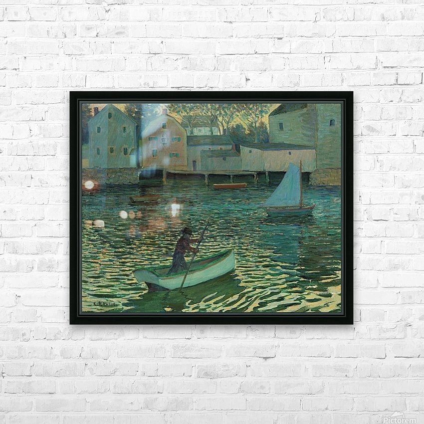 Boat in the water HD Sublimation Metal print with Decorating Float Frame (BOX)