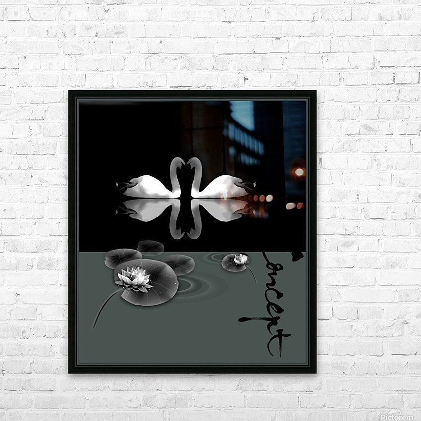 Chinese Concept 21A HD Sublimation Metal print with Decorating Float Frame (BOX)