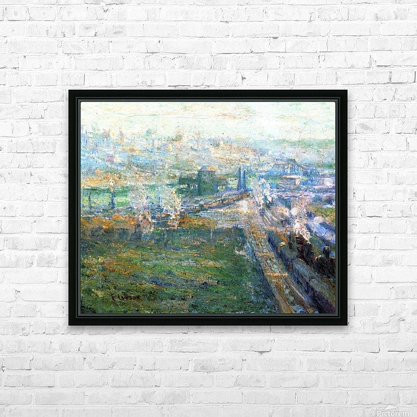 City landscape HD Sublimation Metal print with Decorating Float Frame (BOX)