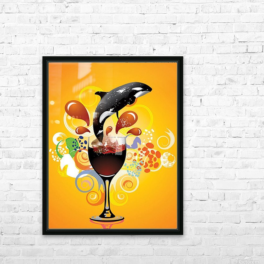 ORCA HD Sublimation Metal print with Decorating Float Frame (BOX)