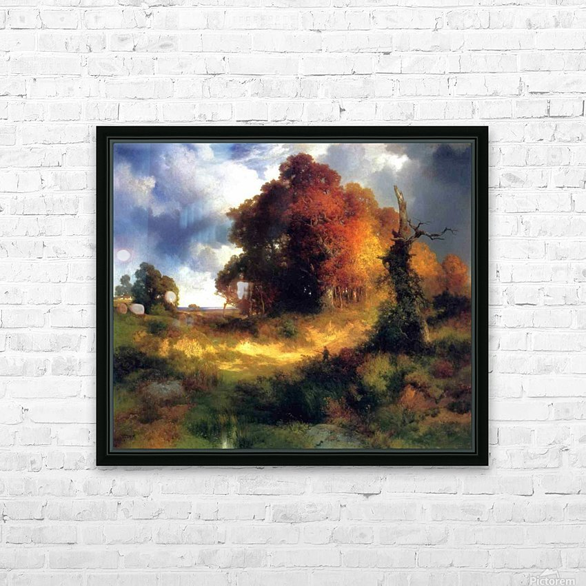 Autumn HD Sublimation Metal print with Decorating Float Frame (BOX)