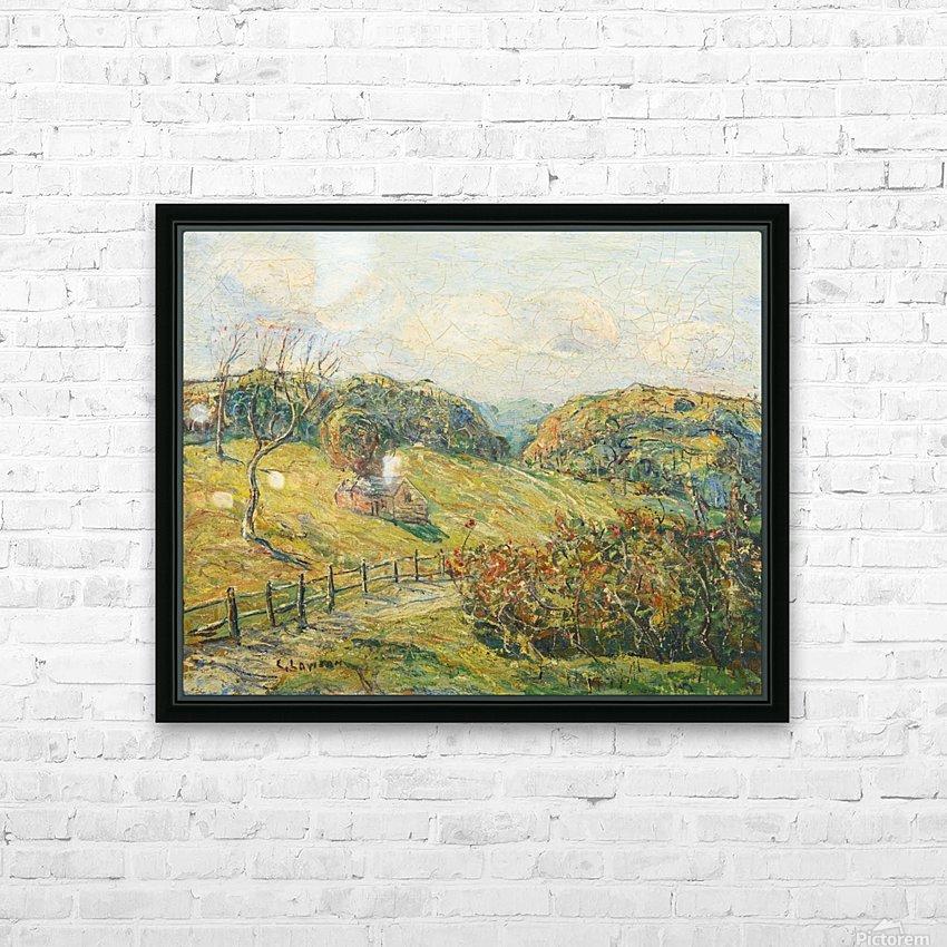 Summer Landscape HD Sublimation Metal print with Decorating Float Frame (BOX)