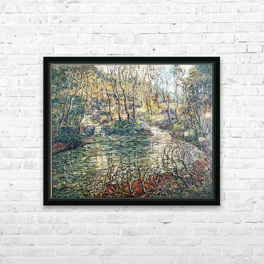 River and trees HD Sublimation Metal print with Decorating Float Frame (BOX)