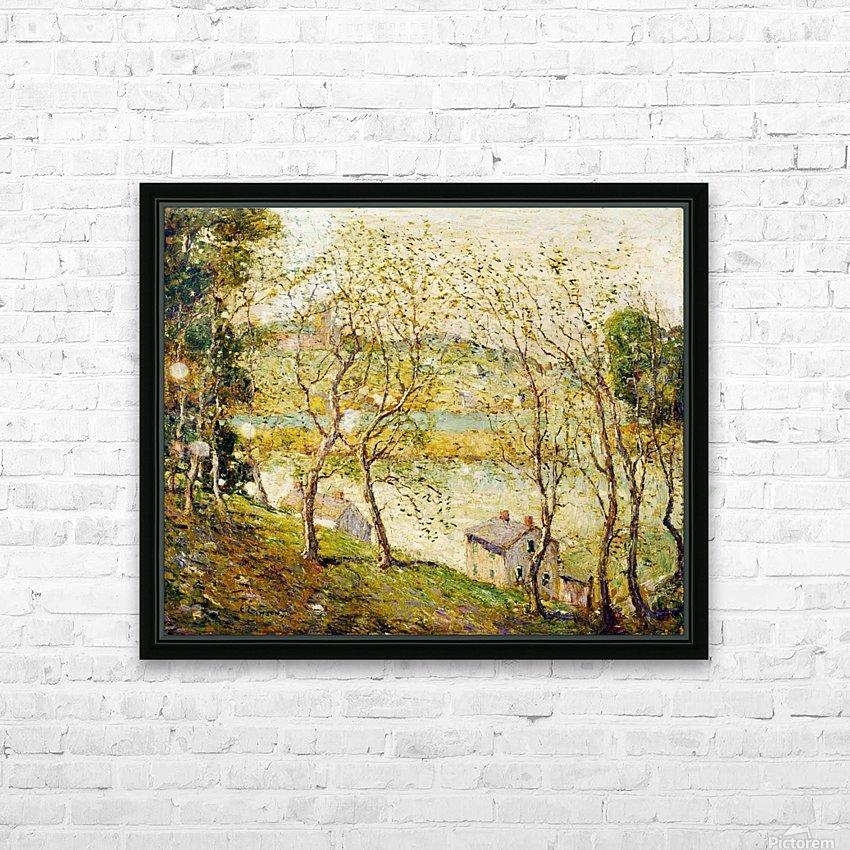 Springtime, Harlem River HD Sublimation Metal print with Decorating Float Frame (BOX)