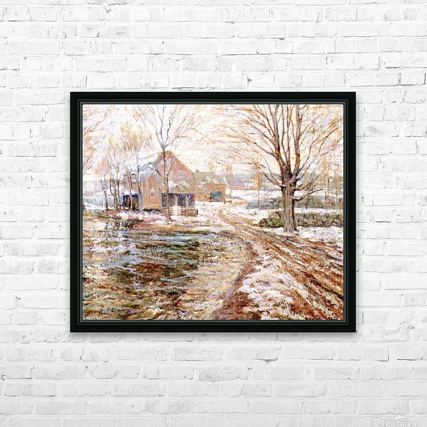 House in winter HD Sublimation Metal print with Decorating Float Frame (BOX)