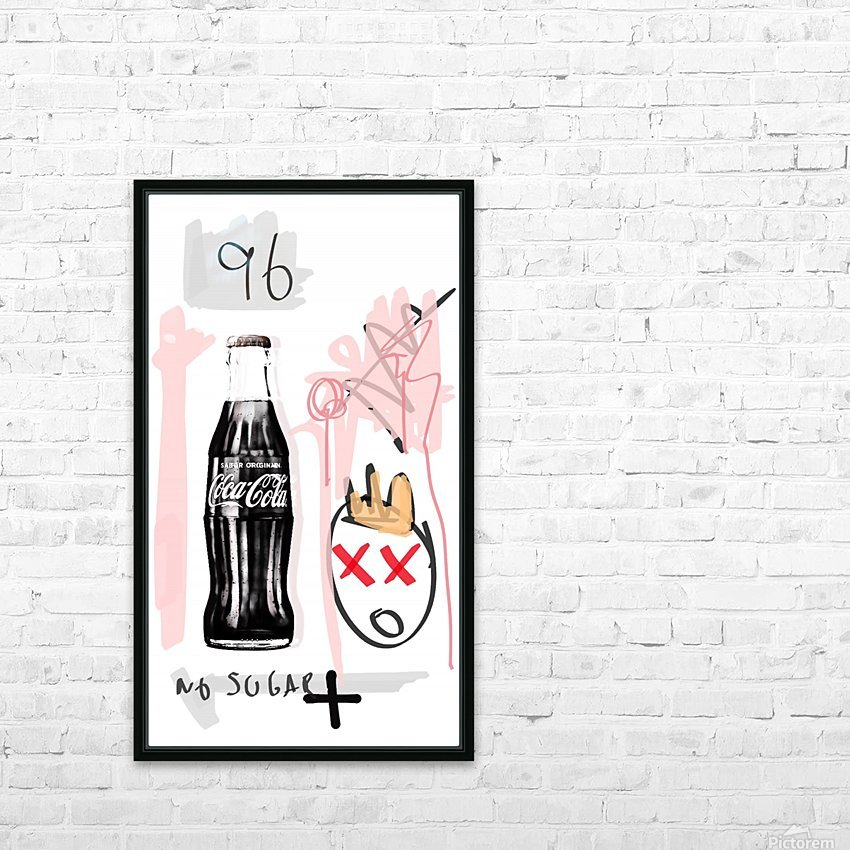 Coca Cola HD Sublimation Metal print with Decorating Float Frame (BOX)