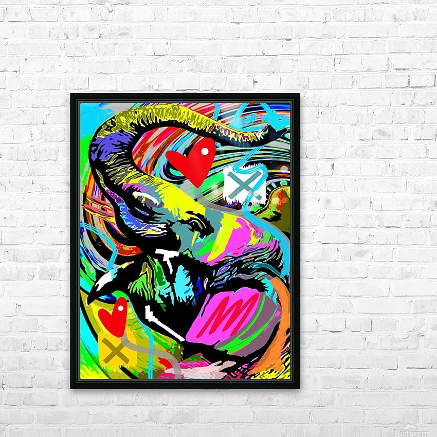 Color Elephant HD Sublimation Metal print with Decorating Float Frame (BOX)