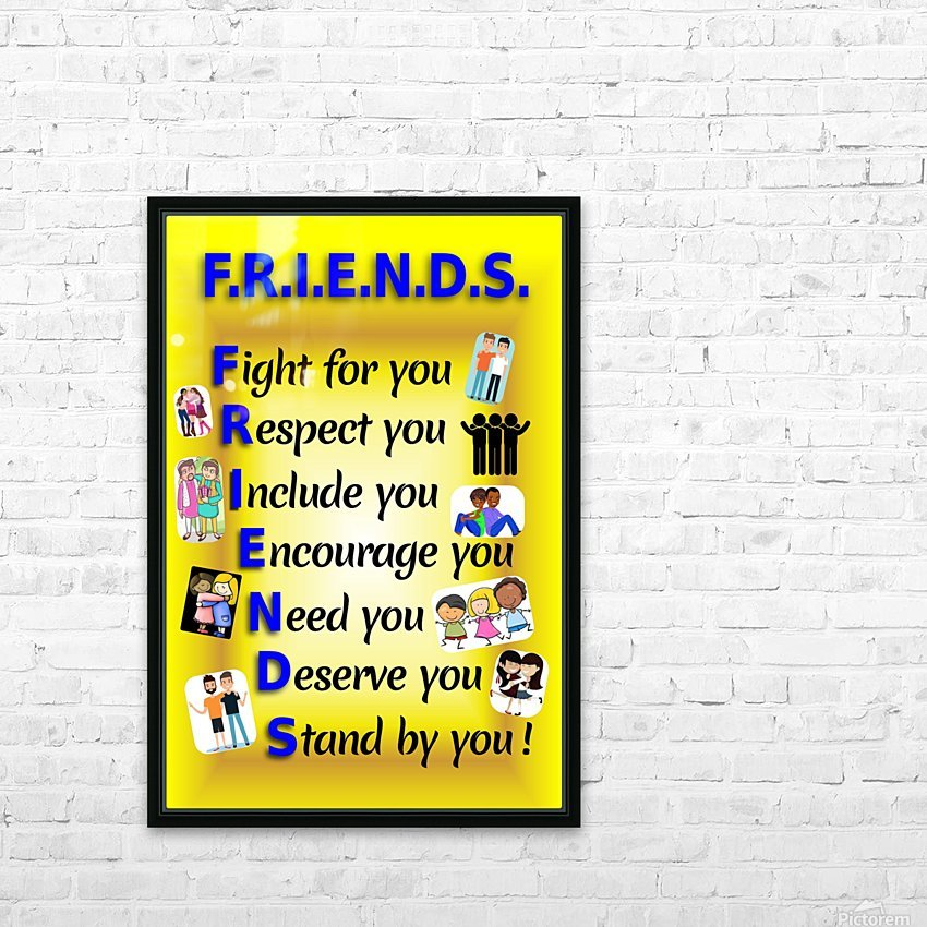 2-Friends  HD Sublimation Metal print with Decorating Float Frame (BOX)
