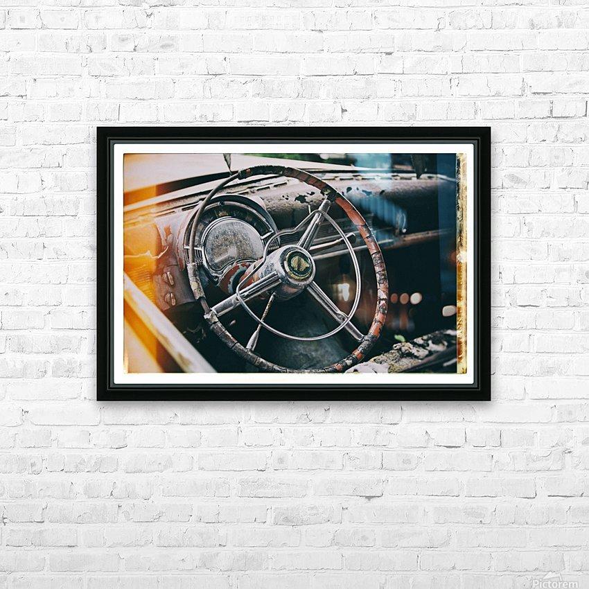 Vintage Chrysler HD Sublimation Metal print with Decorating Float Frame (BOX)