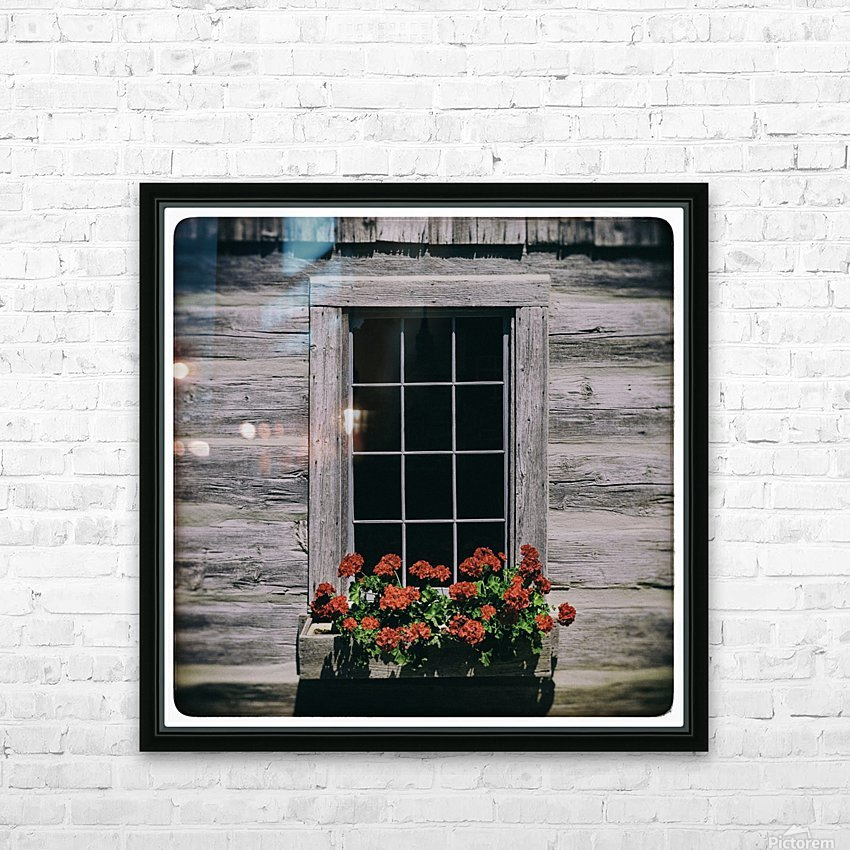 Window of Flowers HD Sublimation Metal print with Decorating Float Frame (BOX)