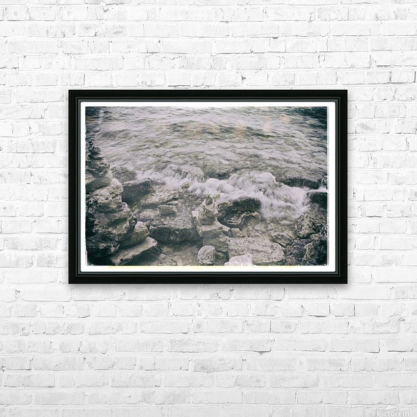 Crashing Waves HD Sublimation Metal print with Decorating Float Frame (BOX)