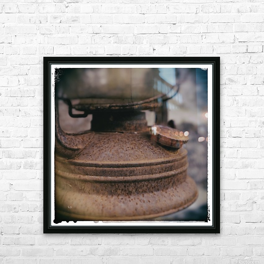 Rusted HD Sublimation Metal print with Decorating Float Frame (BOX)