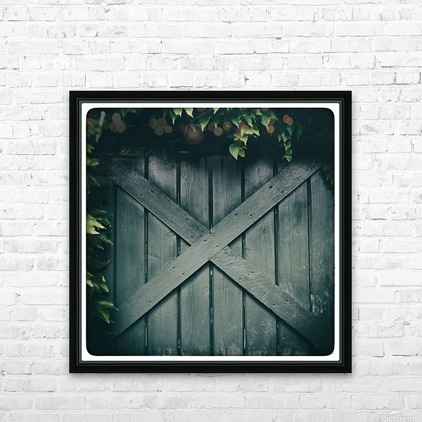 Green Doorway HD Sublimation Metal print with Decorating Float Frame (BOX)