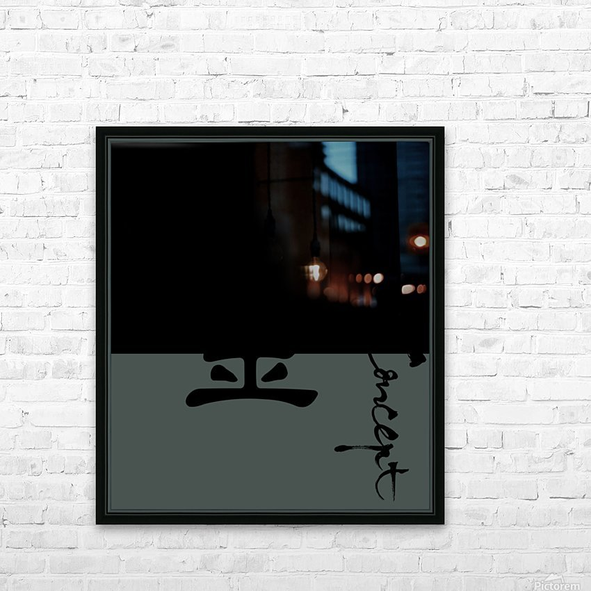 Chinese Concept 32A HD Sublimation Metal print with Decorating Float Frame (BOX)