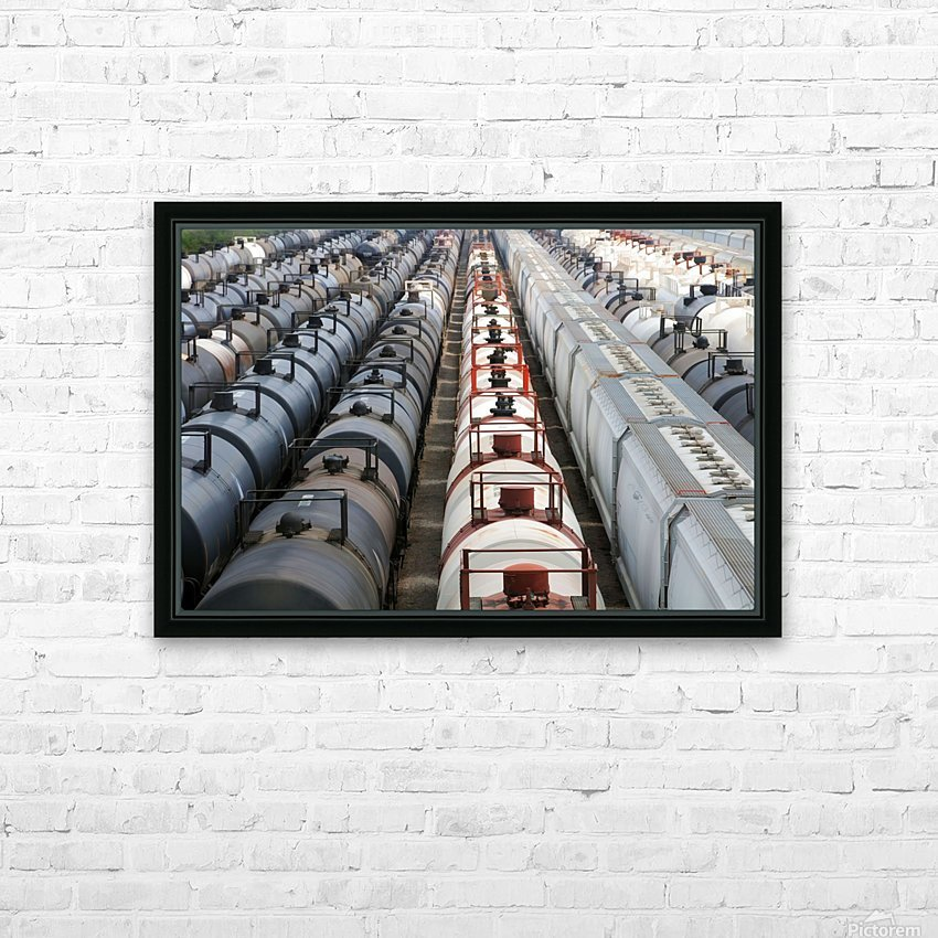 The Rail Yard - HDR HD Sublimation Metal print with Decorating Float Frame (BOX)