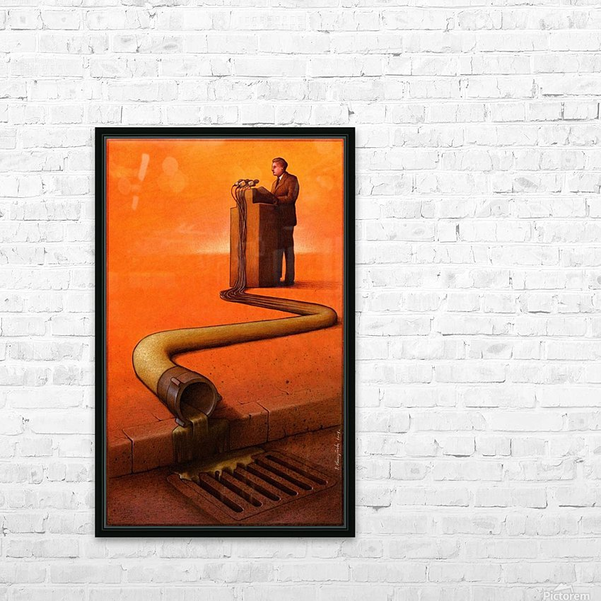 Speech HD Sublimation Metal print with Decorating Float Frame (BOX)