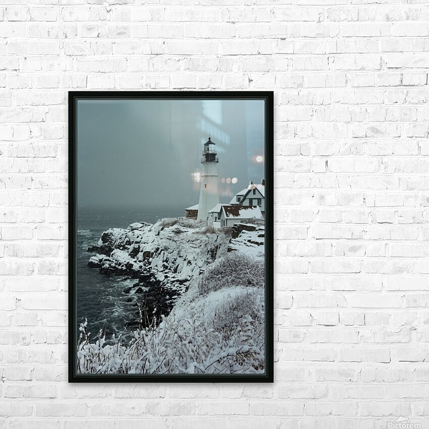 Portland Head Light HD Sublimation Metal print with Decorating Float Frame (BOX)
