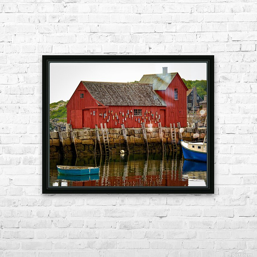 Motif Number 1 - Rockport MA HD Sublimation Metal print with Decorating Float Frame (BOX)