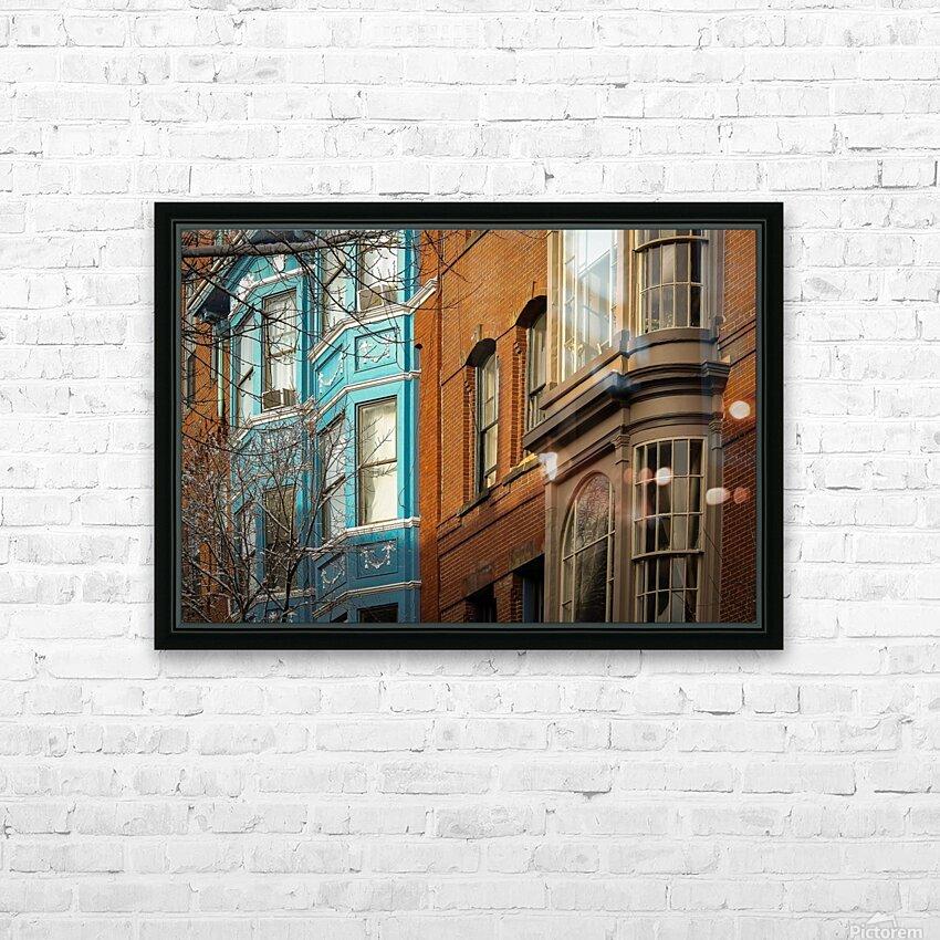 Old Port - Portland ME HD Sublimation Metal print with Decorating Float Frame (BOX)