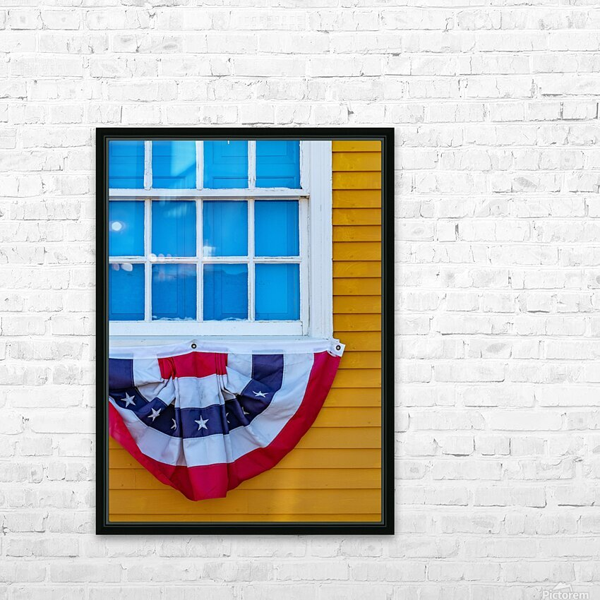 Patriotic Colonial HD Sublimation Metal print with Decorating Float Frame (BOX)