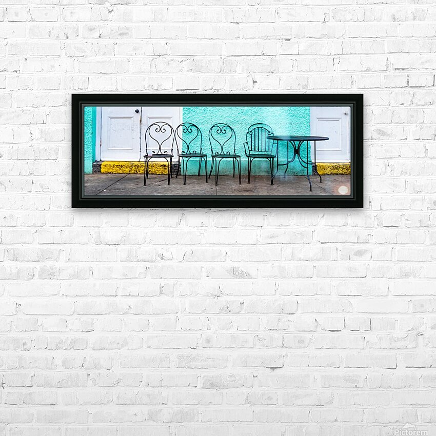 NOLA Morning HD Sublimation Metal print with Decorating Float Frame (BOX)