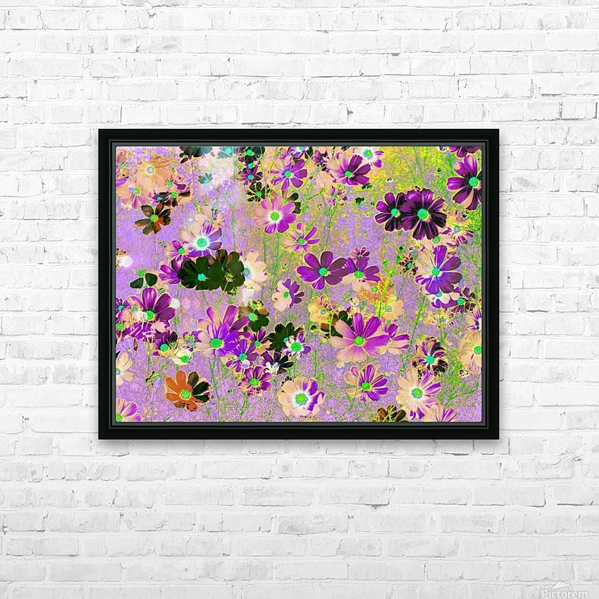 Flowers Garden Purple HD Sublimation Metal print with Decorating Float Frame (BOX)