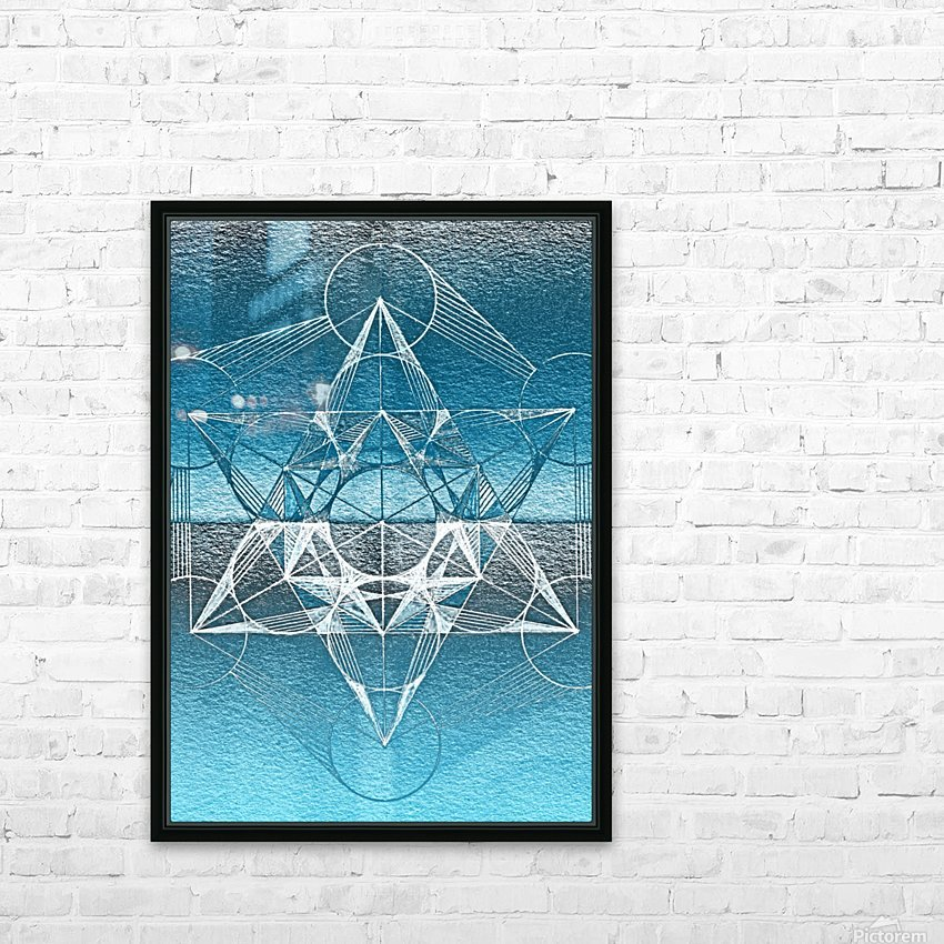 Cube of Metatrone Handdrawing HD Sublimation Metal print with Decorating Float Frame (BOX)