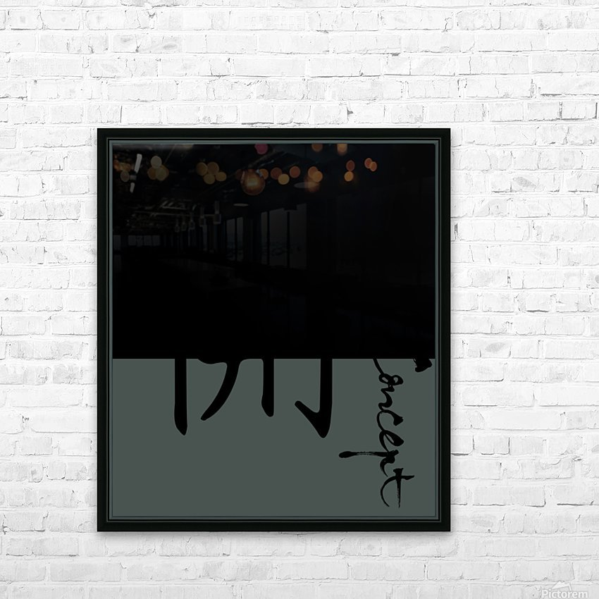 Chinese Concept 43A HD Sublimation Metal print with Decorating Float Frame (BOX)
