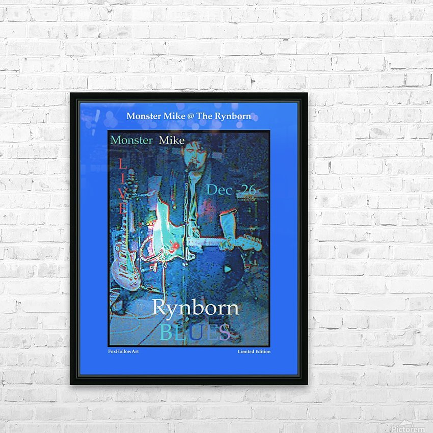 Monster Mike At The Rynborn Blues Club HD Sublimation Metal print with Decorating Float Frame (BOX)