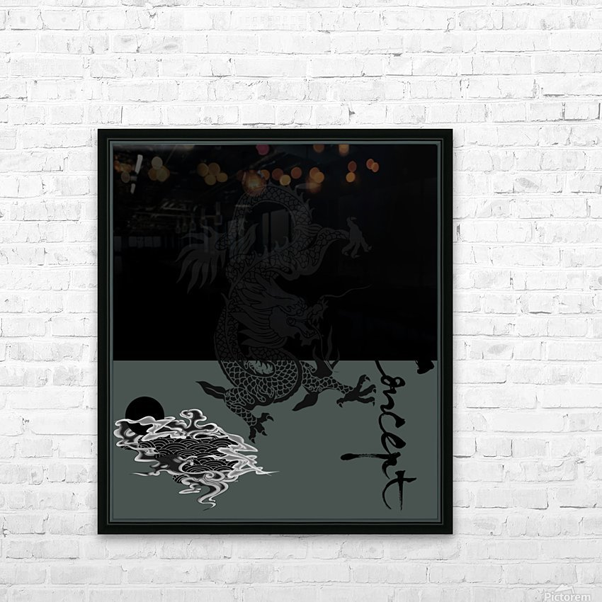 Chinese Concept 44A HD Sublimation Metal print with Decorating Float Frame (BOX)