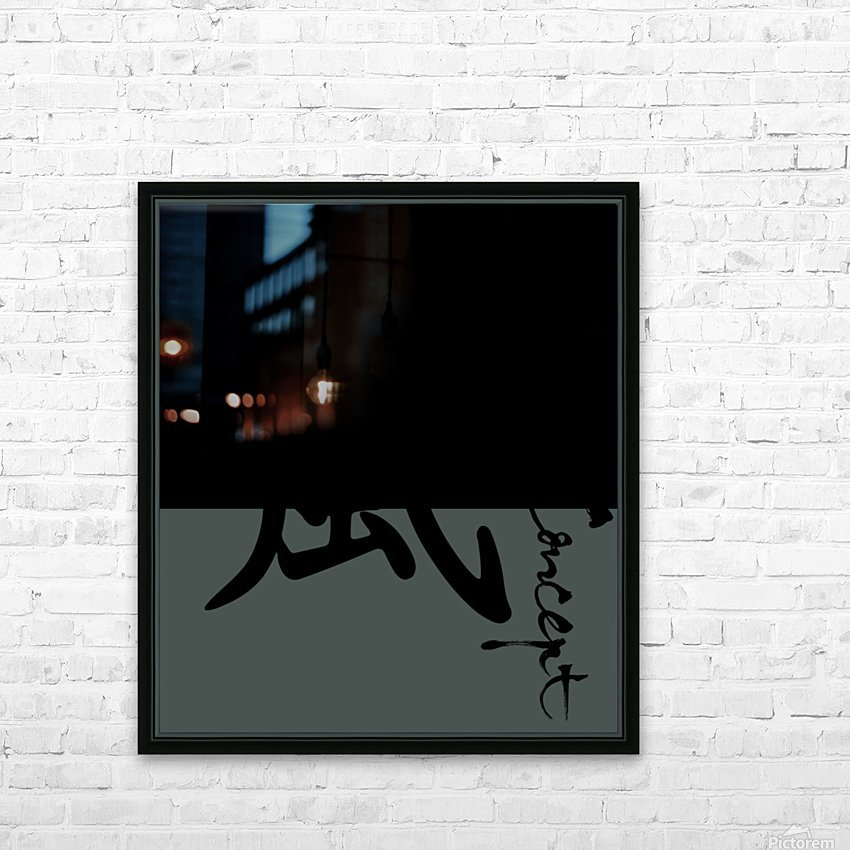 Chinese Concept 45A HD Sublimation Metal print with Decorating Float Frame (BOX)