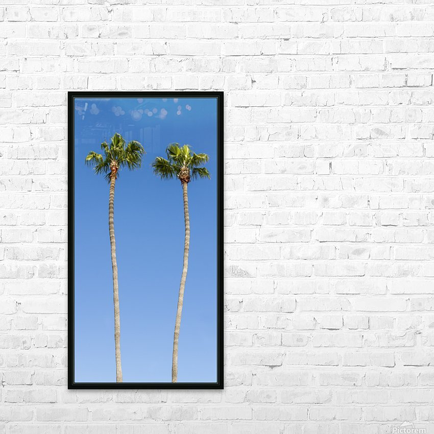 Idyllic Palm trees HD Sublimation Metal print with Decorating Float Frame (BOX)