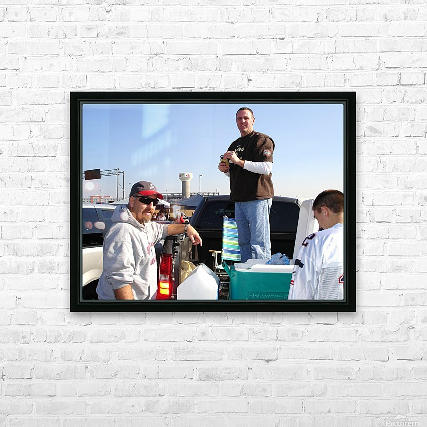 Tailgating At Gillette Stadium Foxborough Massachusetts HD Sublimation Metal print with Decorating Float Frame (BOX)