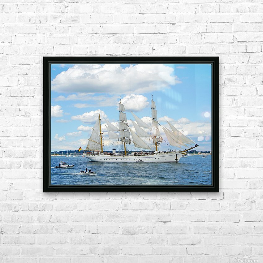 Tall Ships  Newport  Rhode Island HD Sublimation Metal print with Decorating Float Frame (BOX)
