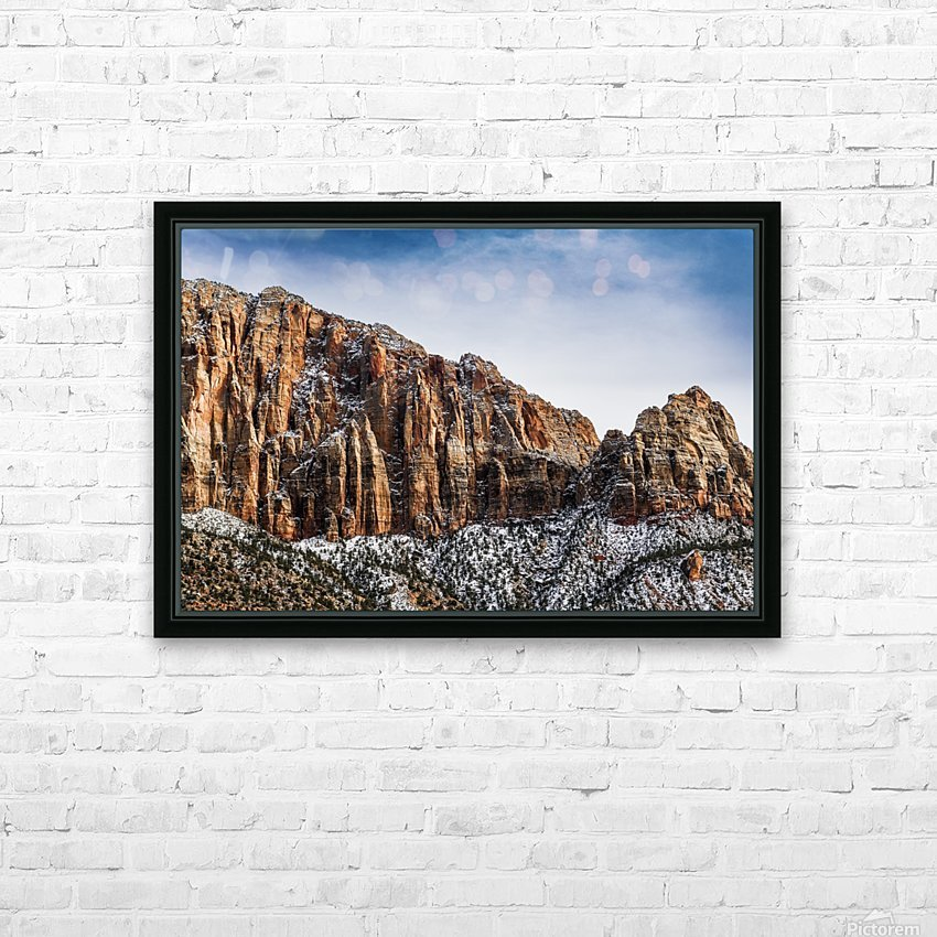 Zion National Park 3 HD Sublimation Metal print with Decorating Float Frame (BOX)