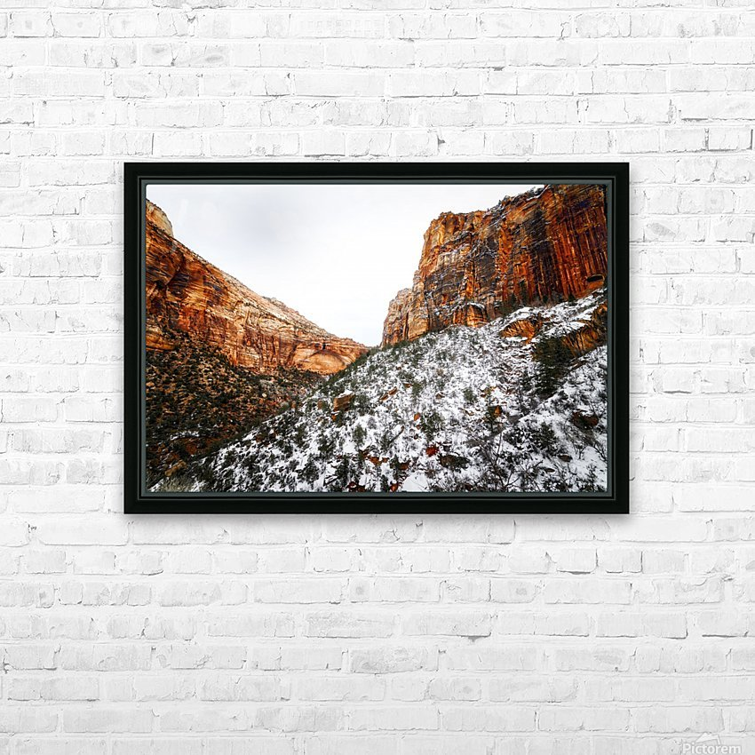 Zion National Park 1 HD Sublimation Metal print with Decorating Float Frame (BOX)
