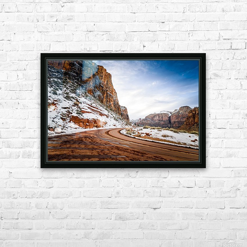 Zion National Park  HD Sublimation Metal print with Decorating Float Frame (BOX)