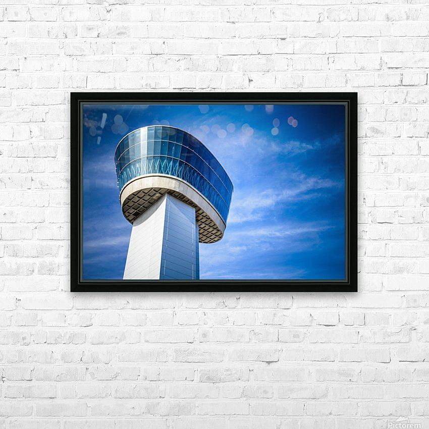 Airport Traffic Control Tower HD Sublimation Metal print with Decorating Float Frame (BOX)