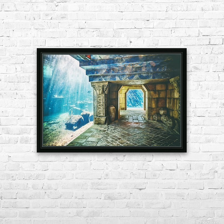 Atlantis Aquarium  HD Sublimation Metal print with Decorating Float Frame (BOX)