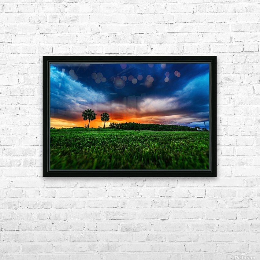 Florida Sunset HD Sublimation Metal print with Decorating Float Frame (BOX)