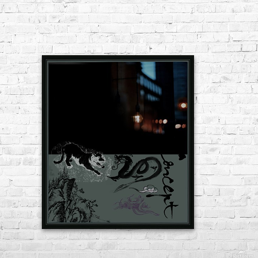 Chinese Concept 48A HD Sublimation Metal print with Decorating Float Frame (BOX)