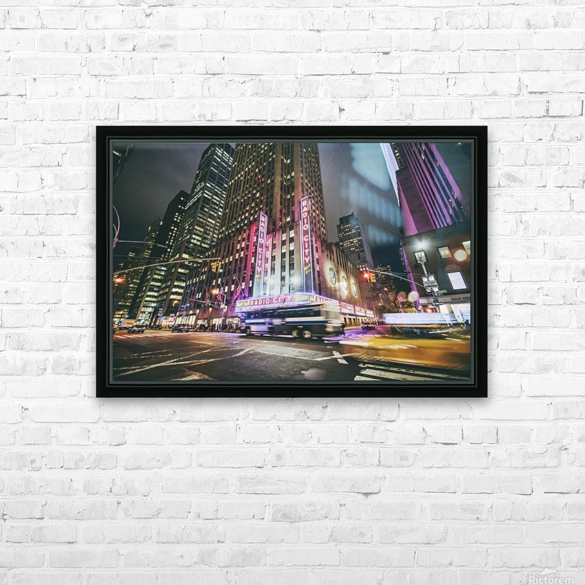 Radio City HD Sublimation Metal print with Decorating Float Frame (BOX)